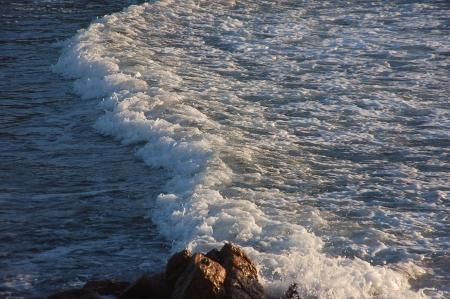 salinity: movement of a sea wave Stock Photo