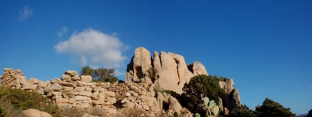 ices: granite hill in Sardinia