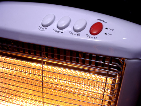 watts: electric heater Stock Photo