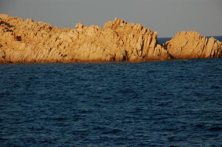 花崗岩の岩海の上