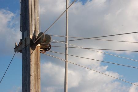 transmission of wires to work Stok Fotoğraf