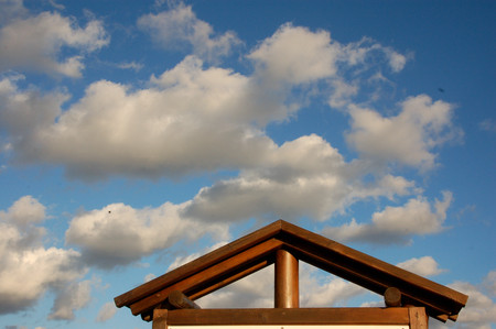 roof and clouds of a landscape Stock fotó