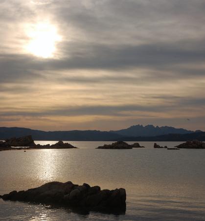 cloudy sunset in Sardinia
