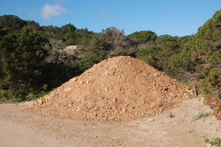 accumulation of earth