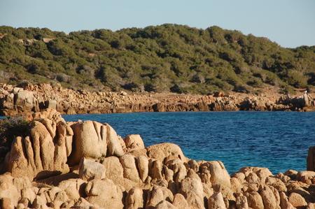 sinuous granite rocks Stock fotó
