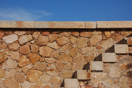 wall with stairs