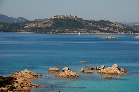 panorama of Sardinian sea
