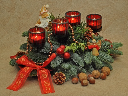 Christmas advent decoration photo