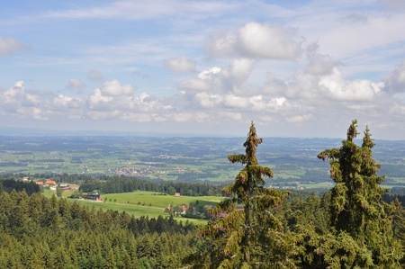 View over Bavaria in the Allg�u photo