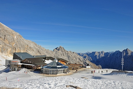 Mountain Station at the Zugspitze glacier