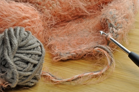 Knitting at home photo