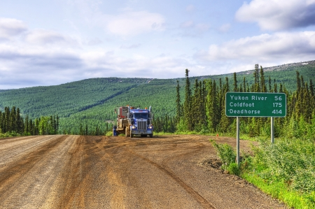 The begin of the Dalton Highway in Alaska photo