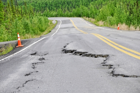 defects: Heavy Road damage after winter