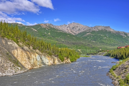 The Nenana River at Denali National Park in Alaska photo