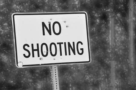 No Shooting sign photo