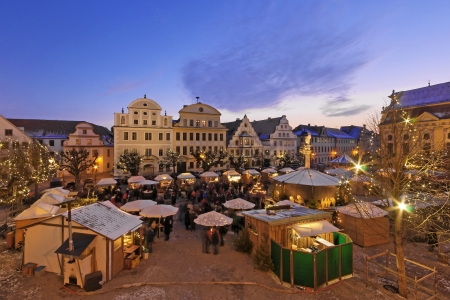 Christmas market in a Old Town in Bavaria photo