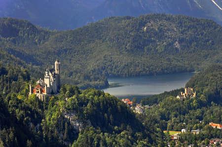 neuschwanstein: Landscape with Royal Castles of Neuschwanstein