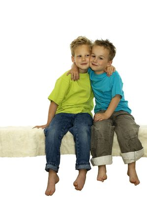 Two friends holding each other tight. They love each other for the rest of their lives. Stock Photo - 898552