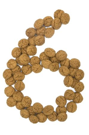 pepernoot: Little ginger nuts in the form of the digit nine. These little ginger nuts are used in Holland for the