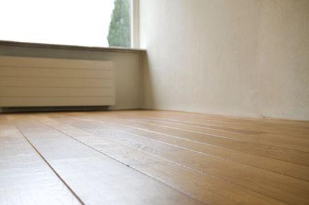 Teil eines leeren Raum, gereinigt, bevor sie aus.