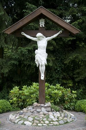 Jesus hanging on the cross. Stock Photo - 3263388