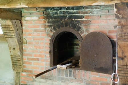 Picture Of An Old Baking Room Showing The Oven Stock Photo