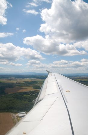 Beautiful france scenery from above, taking out of an airplane Stock Photo - 5362387