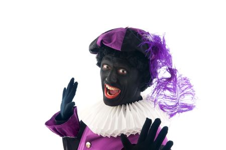 Zwarte Piet is a Dutch tradition during Sinterklaas, which is celebrated in December the fifth.