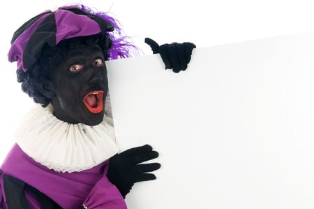 Zwarte Piet is a Dutch tradition during  Stock Photo - 5653646
