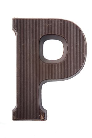 Chocolate letter in the form of a P. Used very often in country's where they celebrate Sinterklaas. Kids get the first letter of their name. P also stands for Piet (Zwarte Piet). Stock Photo - 5709218
