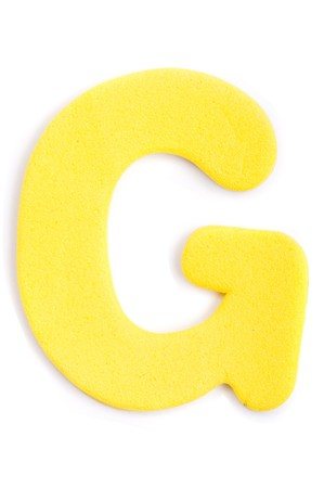alfabet: Een letter van het alfabet in foam.