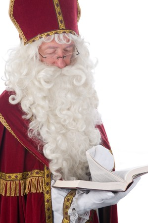Sinterklaas and his book of children's names Stock Photo - 7845893