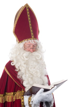 Sinterklaas and his book of childrens names