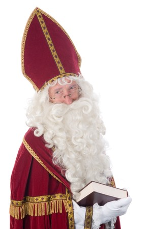 Sinterklaas and his book of children's names Stock Photo - 7845889