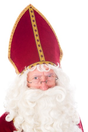 Portrait of Sinterklaas, a Dutch tradition which is celebrated at December 5th. Stock Photo - 7845906