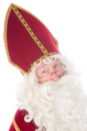 Portrait of Sinterklaas, a Dutch tradition which is celebrated at December 5th. photo