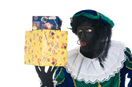 zwarte piet: Zwarte Piet wants to know whats in the boxes...