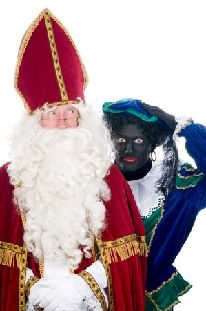Saint Nicholas and his helper Stock Photo - 8124644