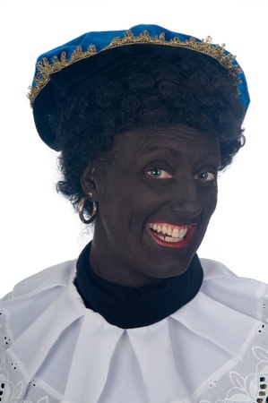Zwarte Piet is a Dutch tradition during Sinterklaas, which is celebrated in December the fifth. Stock Photo - 13218657