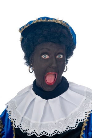 Zwarte Piet is a Dutch tradition during Sinterklaas, which is celebrated in December the fifth. Stock Photo - 13218652
