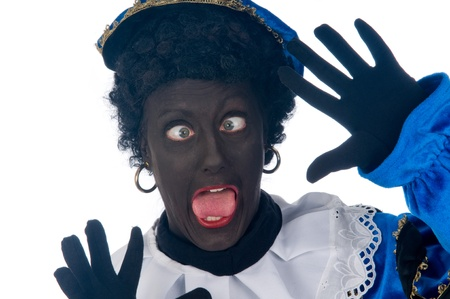 Zwarte Piet is a Dutch tradition during Sinterklaas, which is celebrated in December the fifth. Stock Photo - 13218655