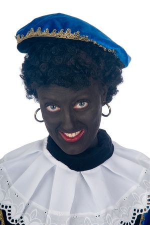 Zwarte Piet is a Dutch tradition during Sinterklaas, which is celebrated in December the fifth. Stock Photo - 13218653
