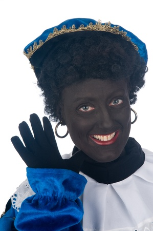 Zwarte Piet is a Dutch tradition during Sinterklaas, which is celebrated in December the fifth. Stock Photo - 13218654