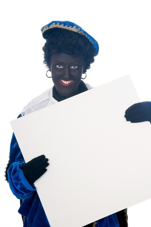 Zwarte Piet is a Dutch tradition during Sinterklaas, which is celebrated in December the fifth. Stock Photo - 13218636