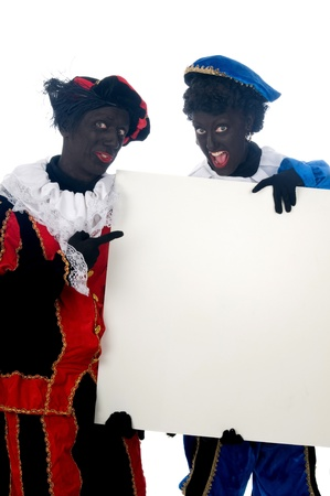 Zwarte Piet is a Dutch tradition during Sinterklaas, which is celebrated in December the fifth. Stock Photo - 13218625