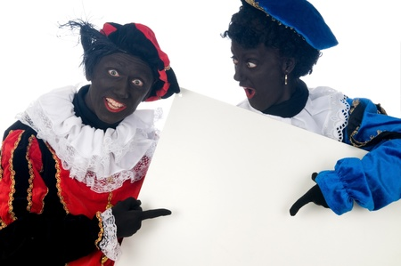 Zwarte Piet is a Dutch tradition during Sinterklaas, which is celebrated in December the fifth. Stock Photo - 13218623
