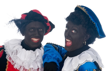 Zwarte Piet is a Dutch tradition during Sinterklaas, which is celebrated in December the fifth. Stock Photo - 13218649