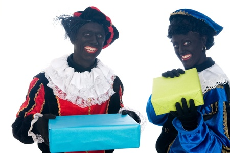 Zwarte Piet is a Dutch tradition during Sinterklaas, which is celebrated in December the fifth. Stock Photo - 13218635