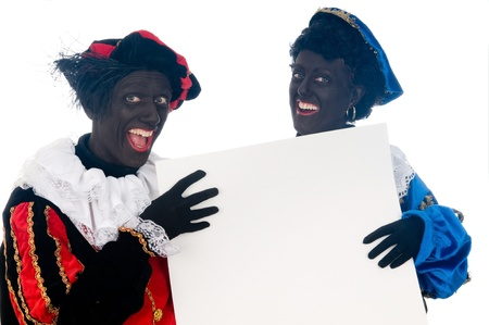 Zwarte Piet is a Dutch tradition during Sinterklaas, which is celebrated in December the fifth. Stock Photo - 13218629