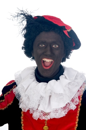Zwarte Piet is a Dutch tradition during Sinterklaas, which is celebrated in December the fifth. Stock Photo - 13218648